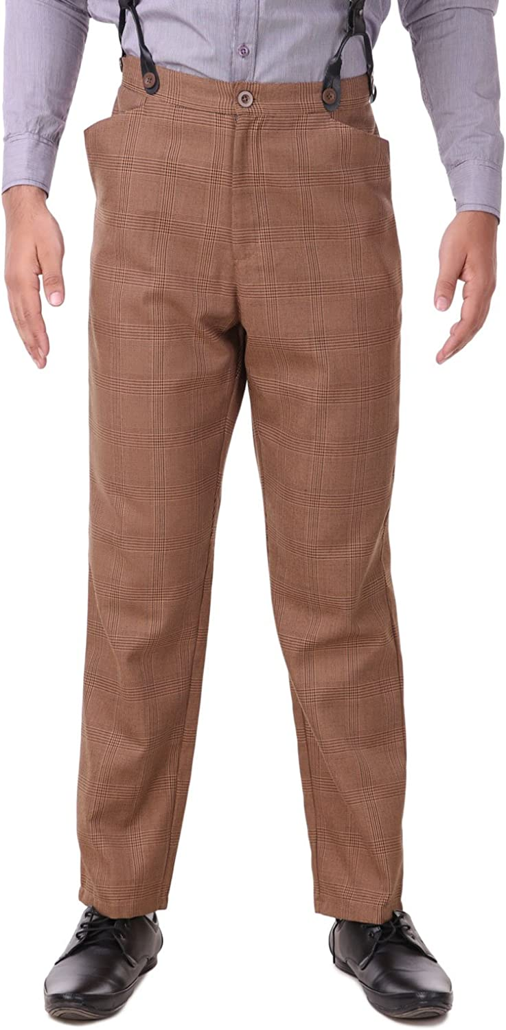 1920s Men's Fashion: What did men wear in the 1920s? ThePirateDressing Steampunk Cosplay Costume Classic Victorian Mens Pants Trousers C1331  AT vintagedancer.com