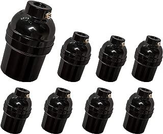 E26 E27 Light Socket, 8 pack Edison Retro Pendant lamp holder, Standard Screw-in Socket, Maximum Wattage 250W, Heat Resistant Up to 200℃, UL Listed