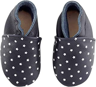 First Walker Leather Baby Shoes with Soft Sole for Boy Girl 0-6-12-18-24 Months