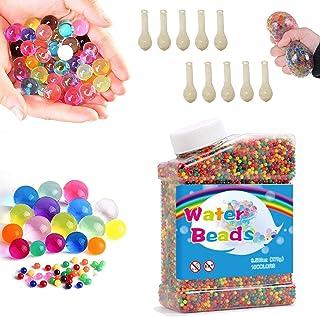 WELLXUNK 50000 Pièces Cristaux d'eau Perles,d'eau Boules Gelée (+10Pcs Ballons),Perles d'eau Gel Enfant,Perles d'eau pour ...