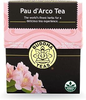 Buddha Teas Pau D'arco Tea, 18 Count (Pack of 6)