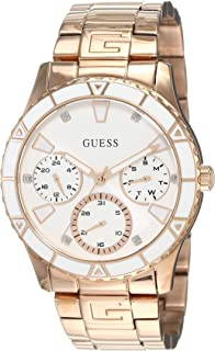Guess Womens Quartz Watch, Analog Display and Stainless Steel Strap W1158L2