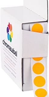 ChromaLabel 1/2 Inch Round Color Coding Labels | 1,000/Box (Fluorescent Orange)