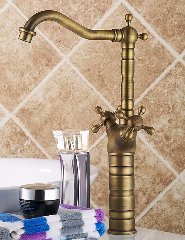 SJQKA-Faucet Retro faucet, all copper, European style basin faucet, antique faucet, hot and cold washbasin, table basin, faucet
