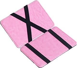 CKLT Men's Fashion Magic Money Clip Leather Minimalistic Slim Wallet