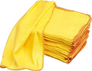 Premium 50pk Jumbo Yellow Duster 50x40cm Heavy Duty Cloth Kitchen Cleaning cloth towel Strong 100% Woven Cotton AIMS