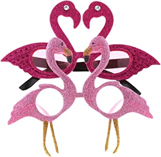 F Fityle 10 Novelty Purple Tropical Flamingo Sunglasses Girls Hen Party Glasses