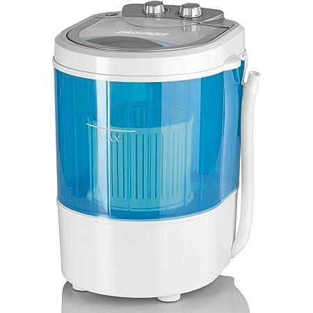Petite machine à laver Easymaxx de camping et de voyage 07475-3kg, 260W, bleue et blanche