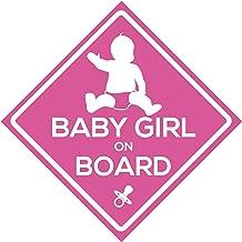 4Pillars Baby Boy or Girl On Board Blue Pink Sticker Set