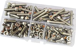 Hex Socket Head Cap Screw Hexagon Allen Head Metric Threaded Bolt Nut Assortment Kit Set Box 110Pcs 304 Stainless Steel M5