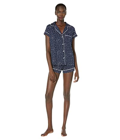 Eberjey Sleep Chic The Short Boxed Pajama Set (Estrella Navy/Ivory) Women