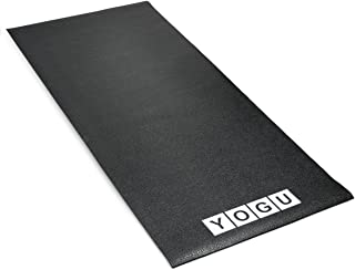 YOGU Exercise Equipment Treadmill Mat Heavy Duty Thin Strong Home Gym Protective Flooring Mat 2.5 x 6 Feet …