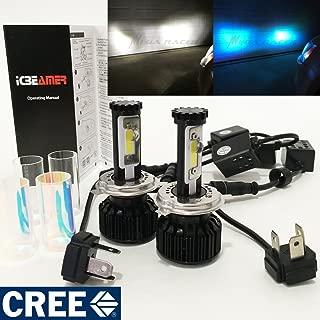 Mega Racer Motorcycle H4 9003 HB2 CREE COB LED 6K White 10K Blue LED Kit Headlight High/Low Beam Xenon Lamp Light Hi/Lo Bulb