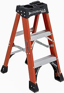 Louisville Ladder 3-Foot, 375-Pound Capacity, FS1403HD Fiberglass Step Ladder, 3-Feet