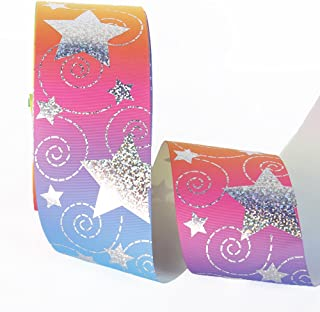 Laser Star Grosgrain Rainbow Ribbon 3