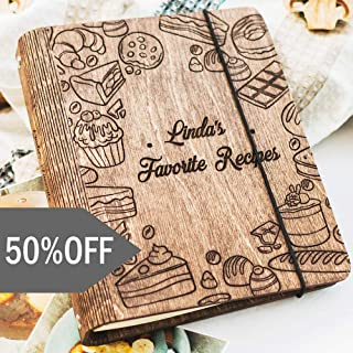 Wooden Blank Recipe Book Binder - Personalized Recipe Notebook - Family Cookbook, Journal, Custom Sketchbook To Write In Organizer by Enjoy The Wood
