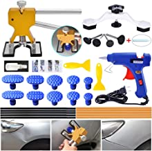 ARISD Auto Paintless Dent Repair Kits - Golden Car Dent Puller with Bridge Dent Puller Kit for Car Hail Damage and Door Dings Repair