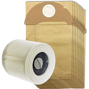 Spares2go bolsas de polvo y filtro de cartucho para aspiradoras Kärcher MV2 IPX4 (Filtro, 5 bolsas, 10 bolsas + opcional bolsa ambientador palos), Cartridge Filter + 10 Bags: Amazon.es: Hogar