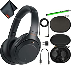 Sony WH-1000XM3B Wireless Bluetooth Noise-Canceling Over-Ear Headphones (Black) Basic Headphone Bundle Kit with Stylus