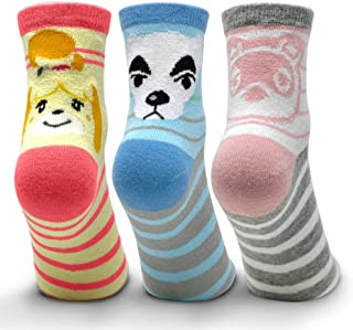 Controller Gear Animal Crossing: New Horizons Stripes Crew Socks - 3 Pack - Authentic & Official Nintendo Animal Crossing ...