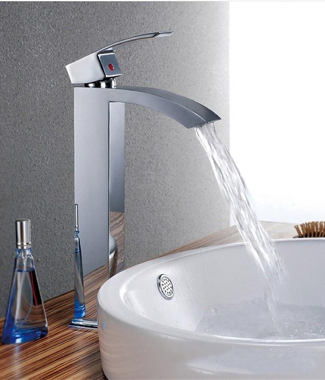 Fy.Zck Wasserhahn Zapfhahn Mischbatterie Armatur Kupfer Einloch Wasserfall Mit Warmen Und Kalten Becken Mixer, B