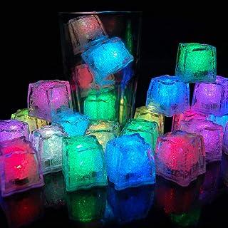 12 Pezzi Feste Decorative Cubetti di Ghiaccio a LED Luce Multicolore Liquid Sensor Ice Cubes Light LED Ghiaccio luminoso B...