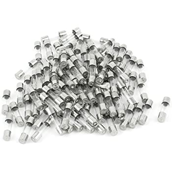 100pcs Glass Fast Blow Fuse 5x20mm 0.5A 250V Fast Quick Acting Blow Glass Tube