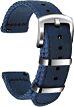 Ullchro Nylon Watch Strap Replacement Canvas Watch Band Military Army Men Women - 18mm, 20mm, 22mm, 24mm Watch Bracelet with Stainless Steel Silver Buckle