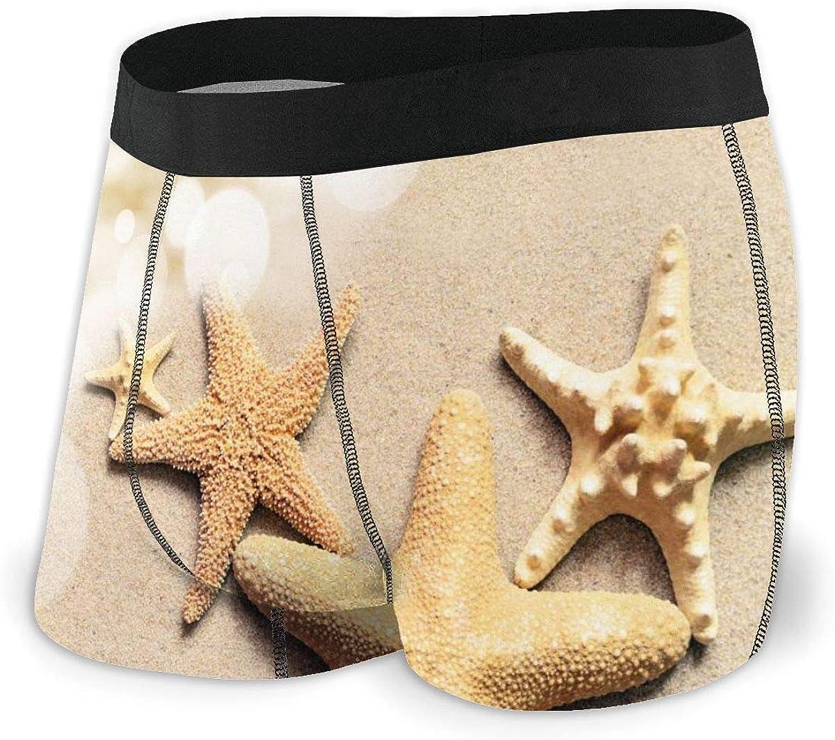 Randolph Wordsworth Mens Boxer Briefs Tropical Summer Beach Starfish Breathable Underwear