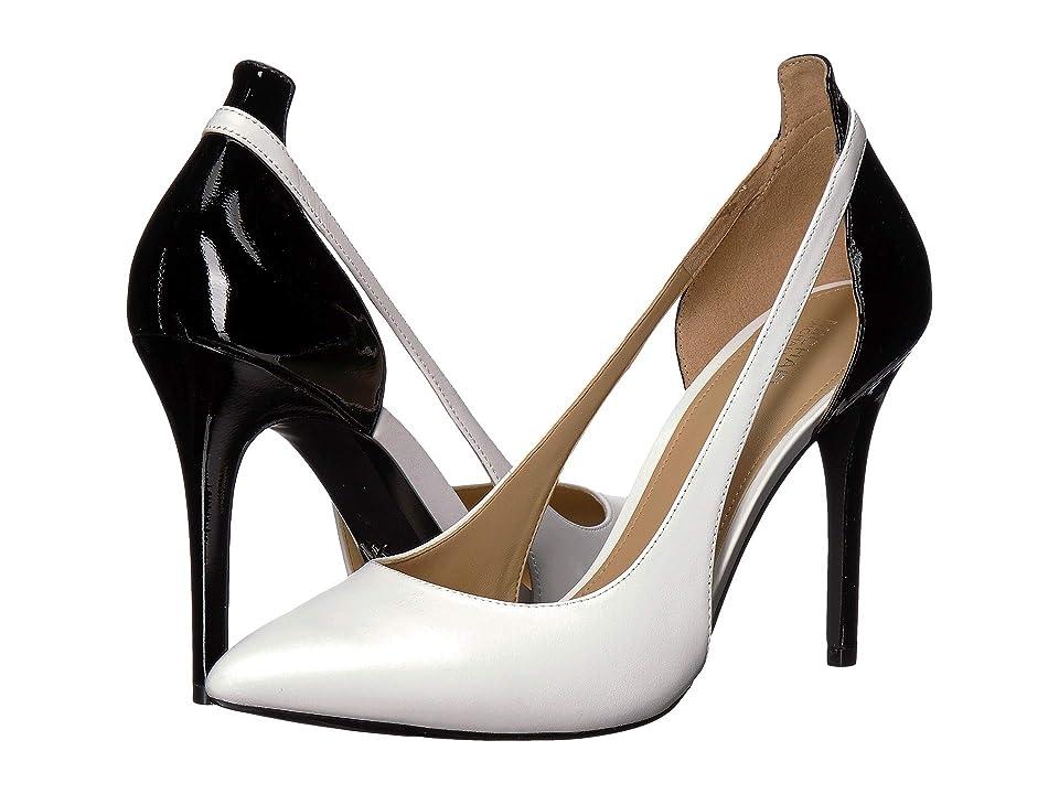 MICHAEL Michael Kors Cersei Pump (Optic White/Black Vachetta/Patent) Women