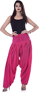 3c44b5d897 NATHAWAT Cotton Ankle Length Simple Salwar for Womens Traditional Cotton  Semi-Patiala Salwar Plus Size