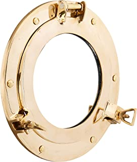 Coastal Space Designs MR 4862-VC New Solid Brass Porthole Mirror 9