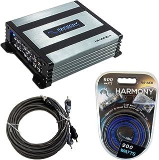 Harmony Audio HA-A400.4 Car Stereo Alloy Amp 4 Channel Fulll Range Speaker or Sub Amplifier Bundle with Harmony Audio HA-A... photo