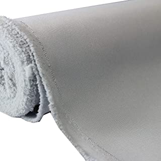 Waterproof Canvas Fabric Outdoor 600 Denier Indoor/Outdoor Fabric by the yard PU Backing W/R, UV, 2times GOOD PU Color : SILVER 5 Yards