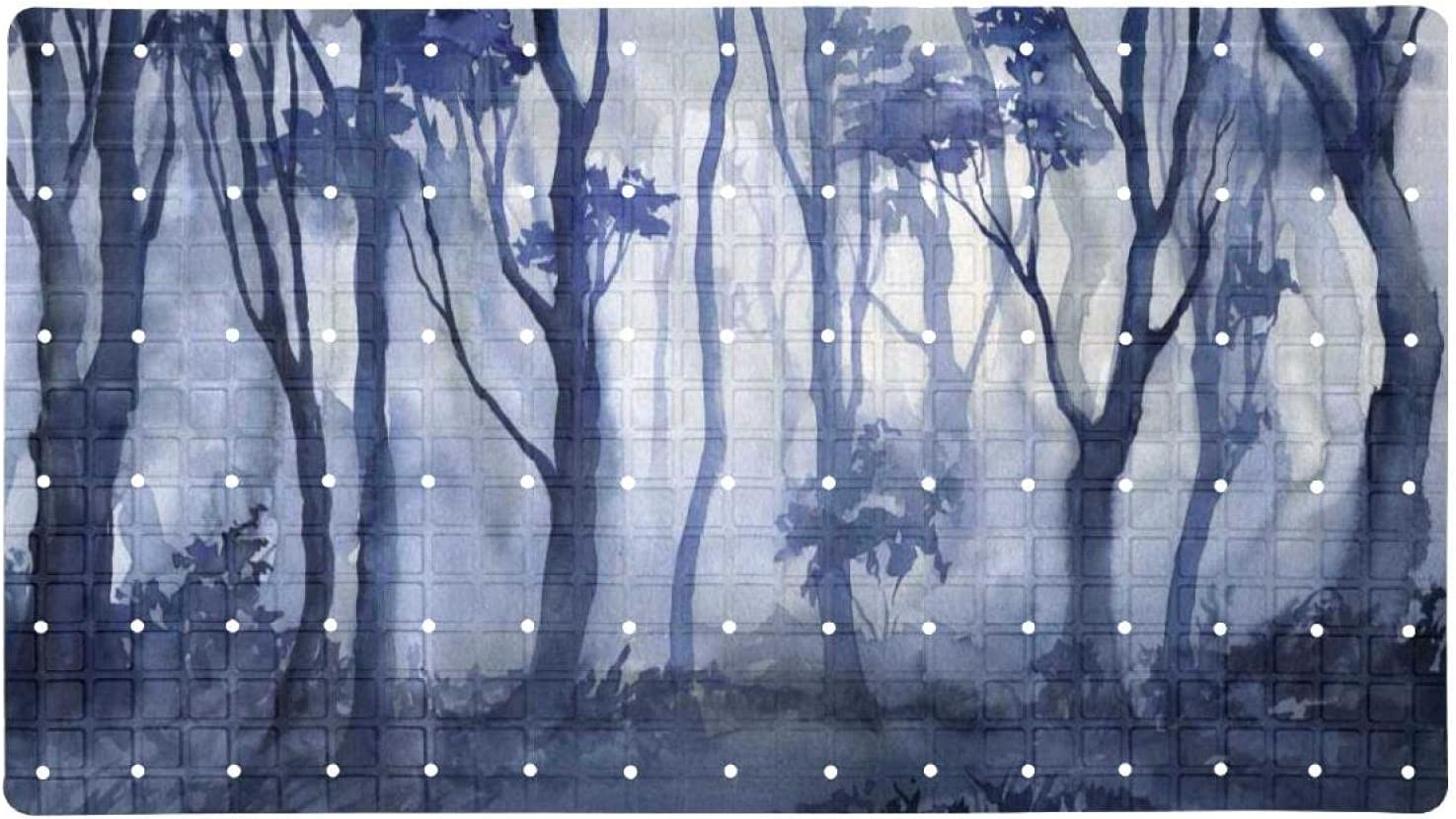 Bath Tub Shower Mat 15.7x27.9 inches Painting Ink Outstanding Forest Max 42% OFF Print w