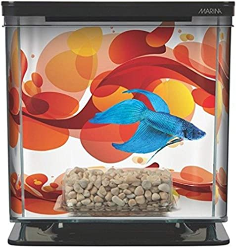 Hagen Marina Betta Aquarium Starter Kit, Sun Swirl