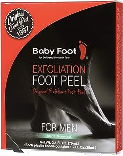Baby Foot - Original Foot Peel Exfoliator For Men - Mint Scent Pair - Foot Mask