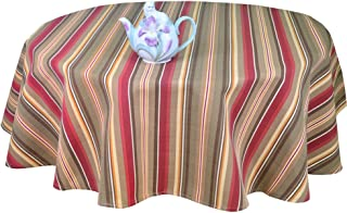R.LANG Waterproof Tablecloth Tablecloth Oval 60 x 108-inch Spill proof Printing Tablecloth Brown/Wine Red
