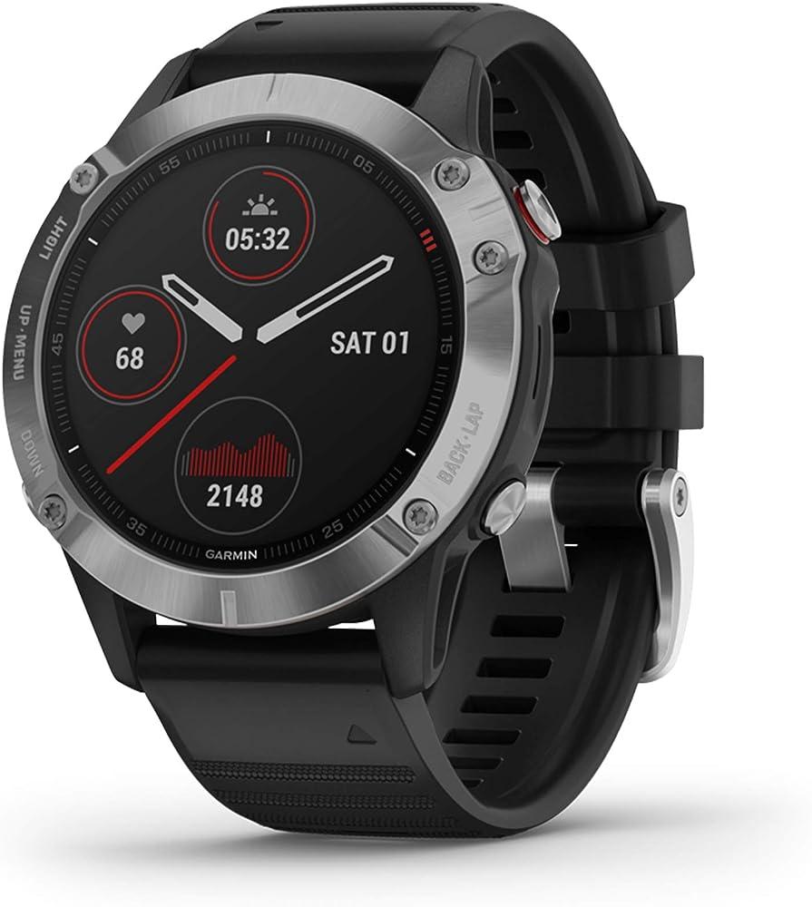 Garmin fenix 6 gps smartwatch multisport con misurazione della frequenza cardiaca al polso, impermeabile 010-02158-00