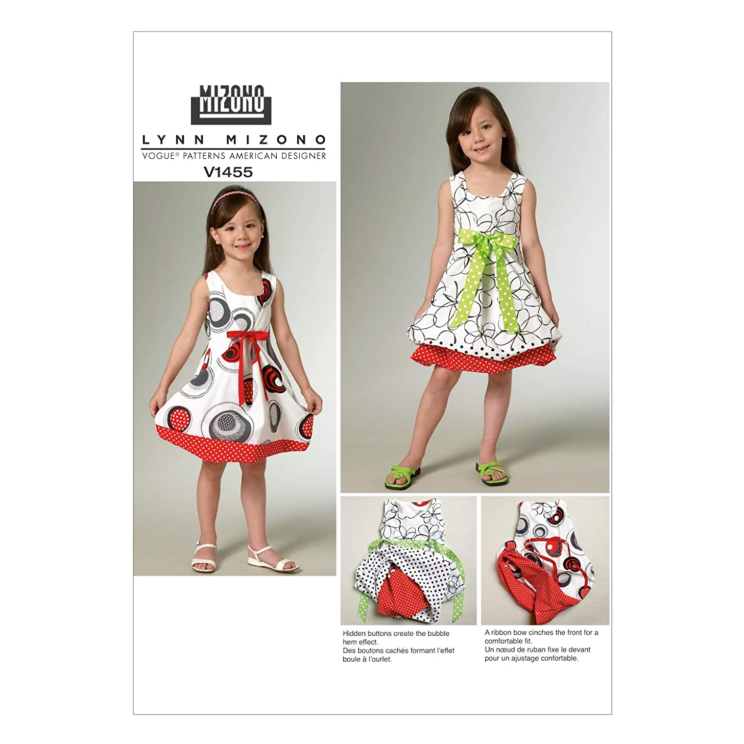 Vogue Patterns V1455 Children's/Girls' Dress, Size CL (6-7-8)