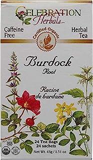 Celebration Herbals Teabags Herbal Tea Burdock Root Organic - 24 Herbal Tea Bags