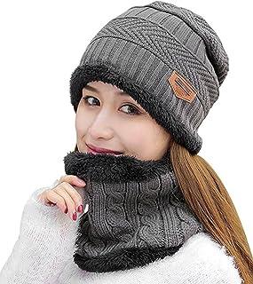 985a3929440 HINDAWI Womens Slouchy Beanie Winter Hat Knit Warm Snow Ski Skull Cap