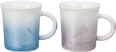 九谷焼 マグカップ ペア 銀彩 (ブルー・ピンク) K4-971