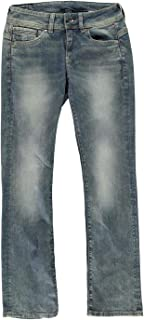 G-Star Raw Women's Midge Saddle Mid Rise Bootleg Fit Jean in Maidu Stretch