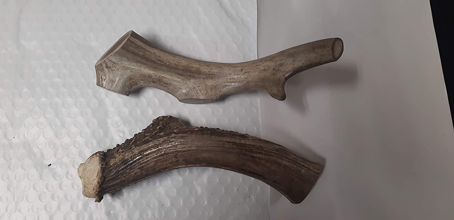 Antler Dog Chews (2) 710 inches Long,Dog Treats, pet Toys, Natural Sheds, Organic,