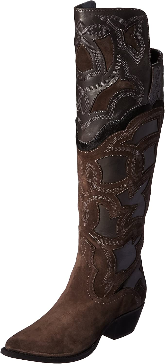Frye Womens Shane Embroidered Cuff Western Boot