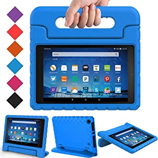 BMOUO Case for All-New Fire HD 8 2017/2018 - Light Weight Shock Proof Convertible Handle Kid-Proof Cover Kids Case for All-New Fire HD 8 Tablet (7th and 8th Generation, 2017 and 2018 Release), Blue