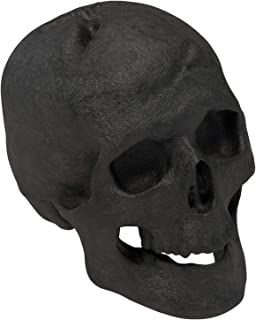 Regal Flame Human Skull Ceramic Wood Large Gas Fireplace Logs Logs for All Types of Gas Inserts, Ventless & Vent Free, Propane, Gel, Ethanol, Electric, or Outdoor Fireplaces & Fire Pits - Black
