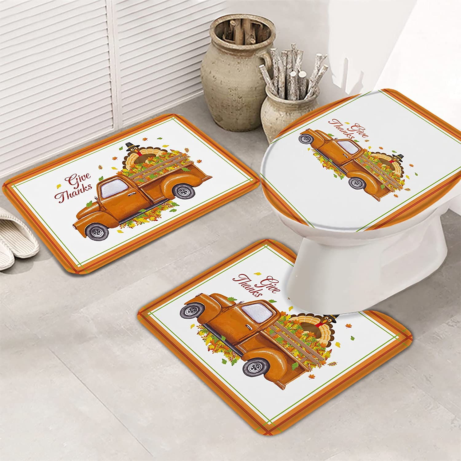 OneHoney Bathroom Rugs Set Mesa Mall Farmhouse with on Turkey Popular products Fall Leaves