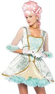 Leg Avenue-Green/Gold Deluxe Marie Antoinette Fancy Dress Costume Set UK 14-16, 3-Piece Mujer, color jacquard verde, oro, Large (EUR 42-44) (85574) , color/modelo surtido